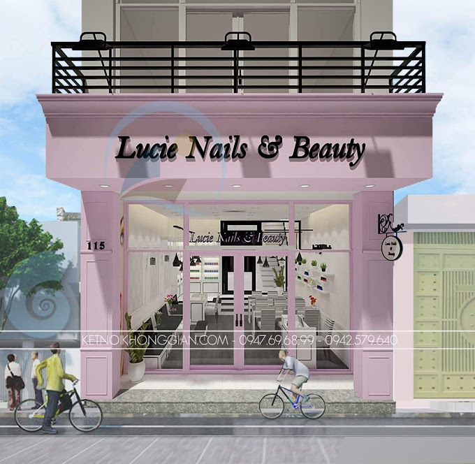 thiết kế cửa hàng móng