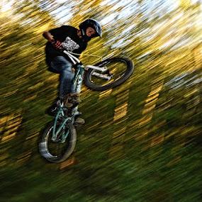 In the air by Uroš Florjančič - Sports & Fitness Cycling