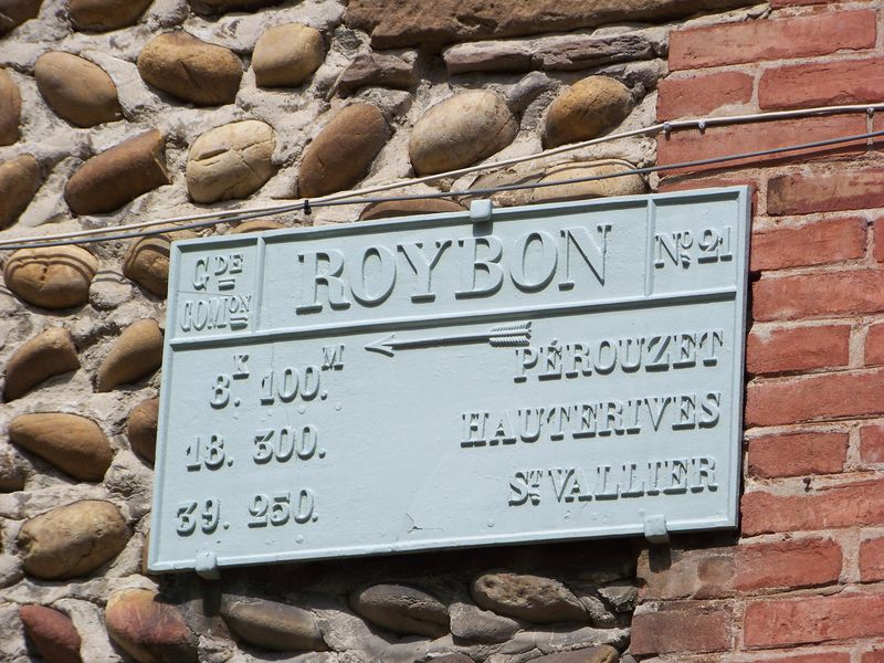 Plaque de cocher à Roybon