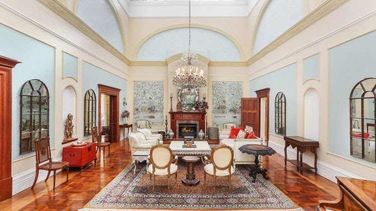 The breath-taking central living space that acts as an impressive centrepiece to this exquisite home.