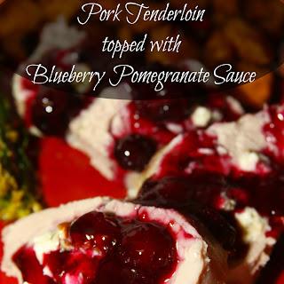 Litehouse Holidazzle Gorgonzola Stuffed Pork Tenderloin with Blueberry Pomegranate Sauce.