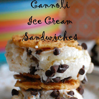 Cannoli Ice Cream Sandwiches.