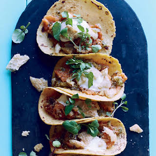 Salsa Verde Chicharrón Tacos.