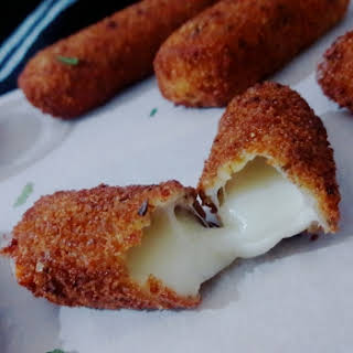 Homemade Mozzarella Cheese Sticks.