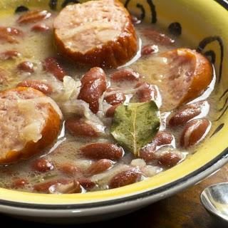 Kielbasa and Sauerkraut Soup.