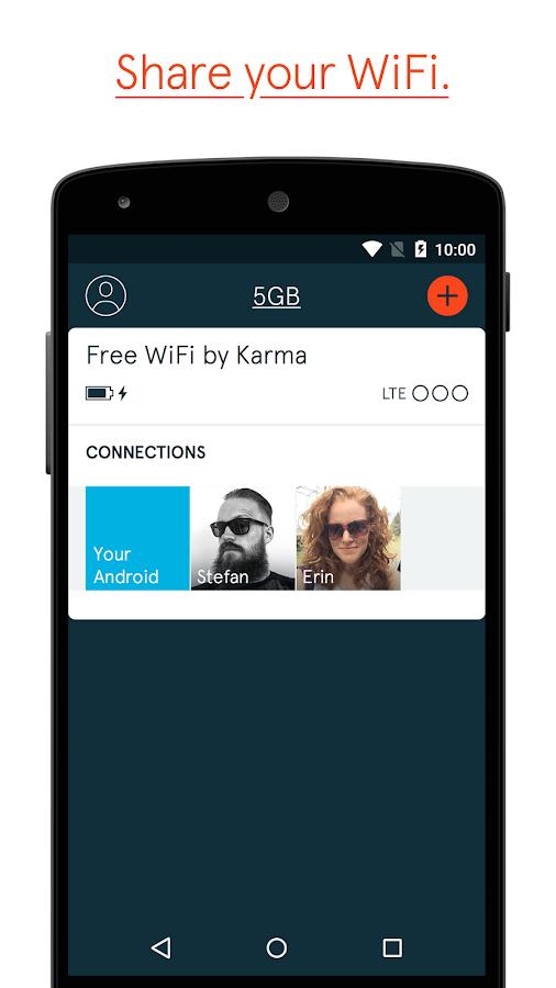 Karma WiFi- screenshot