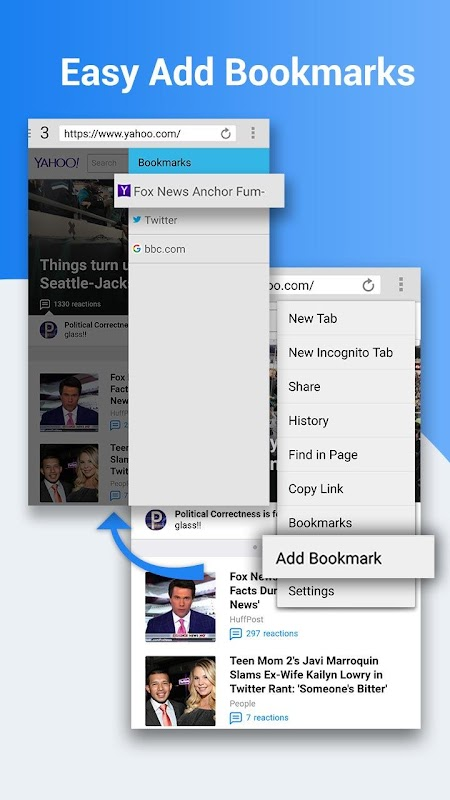 Web Browser screenshots