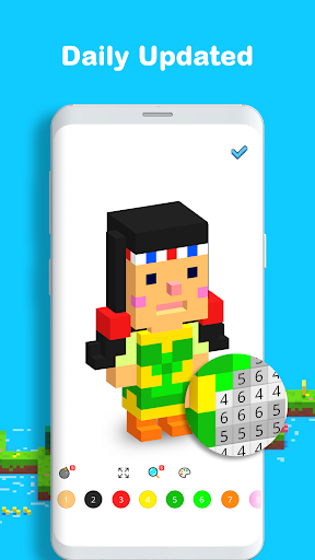 Voxel - 3D Color by Number & Pixel Coloring Book screenshot 4