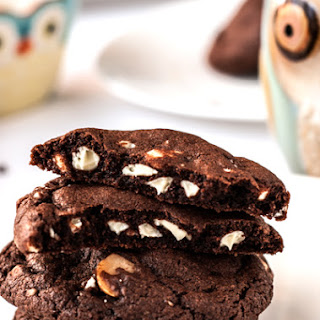 Thick and Fudgy Double Chocolate Cookies