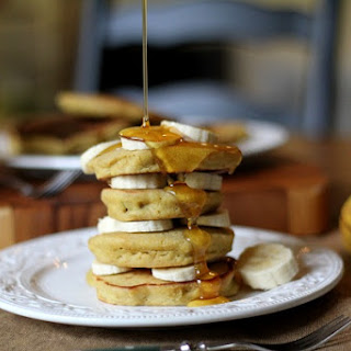 Gluten-Free (rice flour) Banana Pancakes.