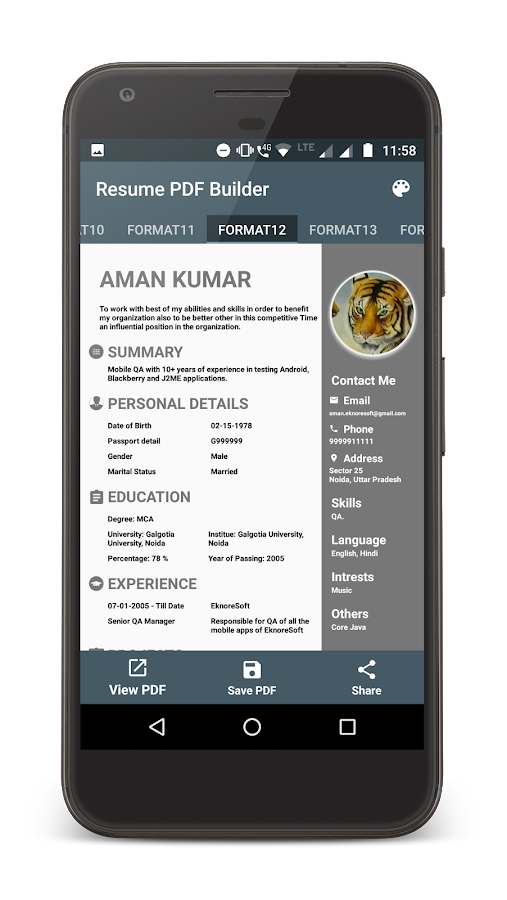 Resume Pdf Maker Android Apps On Google Play