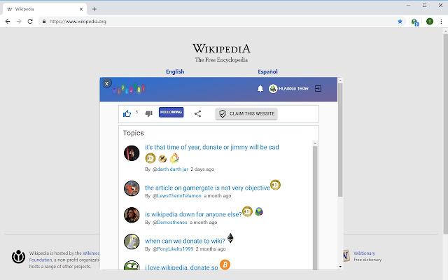 Tipestry for Chrome