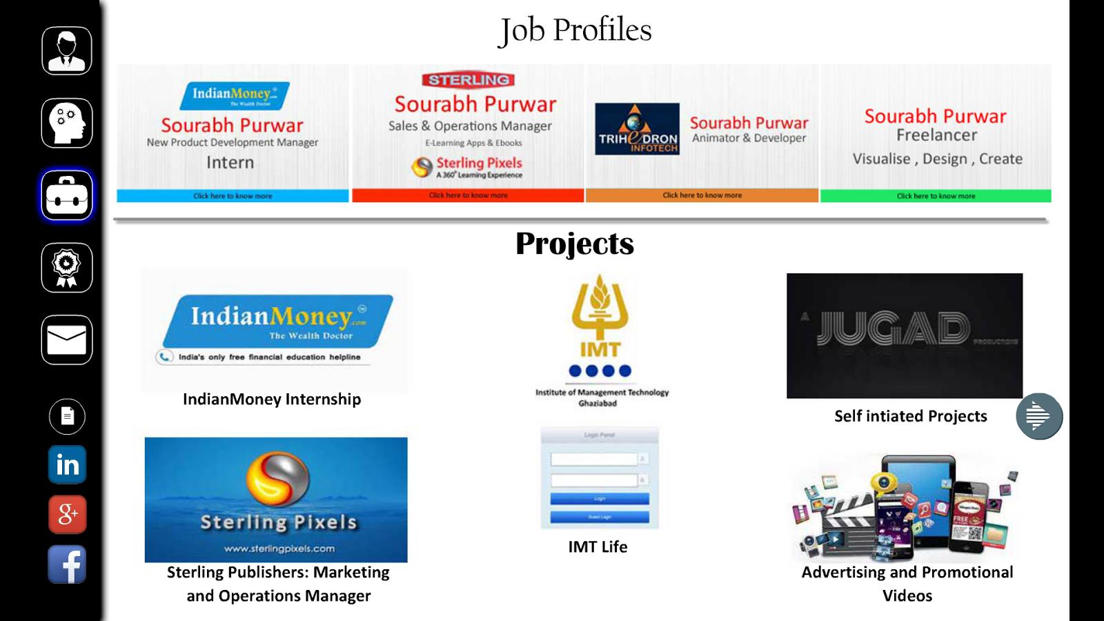 interactive resume sourabh p screenshot - Interactive Resume Builder