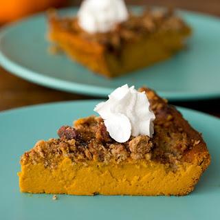 Crustless Pumpkin Pie with Pecan Streusel.