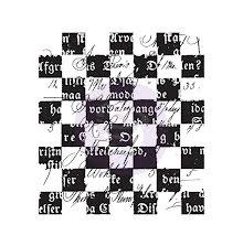 Prima Finnabair Clear Stamp 2.5X2.5 - Checker Texts