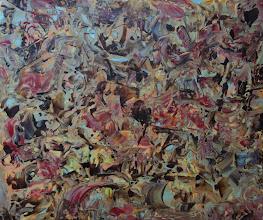 """Photo: """"Vu du ciel II"""". Glycéro sur toile. 53x65cm, format horizontal."""