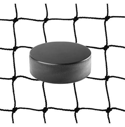 Hockeynät i 2mm svart nylon med kantsydd lina, 3m x 3m