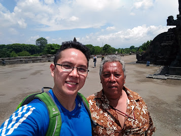 my guide at prambanan temple
