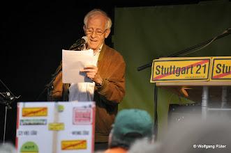 Photo: Moderator der 236. Montagsdemo Dr. Norbert Bongartz