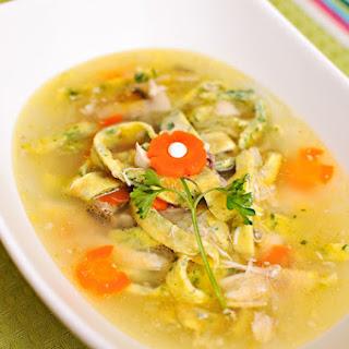 Egg Noodle Chicken Soup