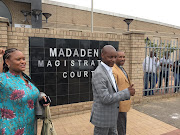Newcastle mayor Ntuthuko Mahlaba, who is accused of murder, outside the Madedeni Magistrate's Court after being released on R20,000 bail in April.