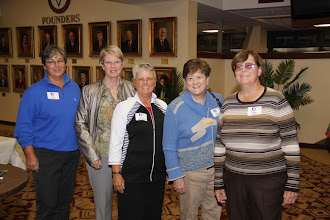 Photo: FSU Women's Golf Reunion in the Varsity Club and on the field before the homecoming game against Virginia.