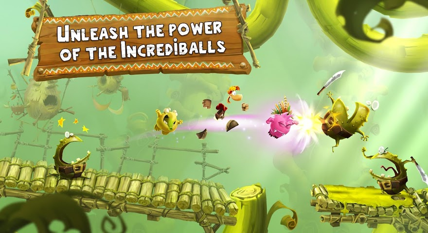 android Rayman Adventures Screenshot 2