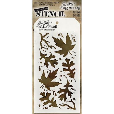 Tim Holtz Layered Stencil 4.125X8.5 - Autumn