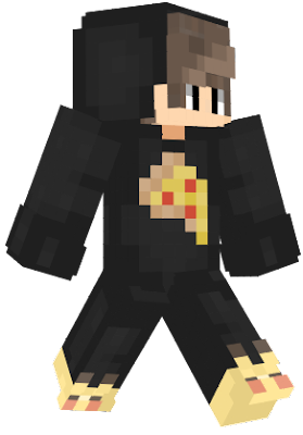 Cute Pizza Boy has a name. His name is Tommy. Tommy lives rather a simple minecraft life. Along with his pizza shirt.