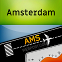 Amsterdam Airport (AMS) Info + Flight tracker icon