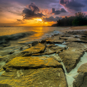 yellow rocks by Edward Adios - Landscapes Waterscapes
