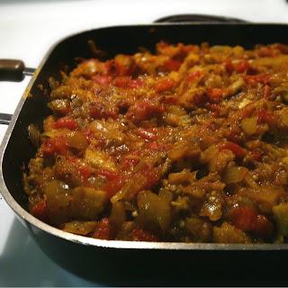 Dal Baingan Bharta (Indian Eggplant and Lentil Curry).