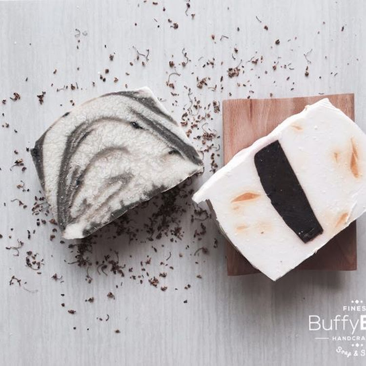 Twin Soap Bar + Soap Dish Set by BUFFY BATH ENTERPRISE