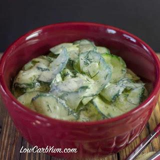 Creamy Dill Cucumber Salad Recipe