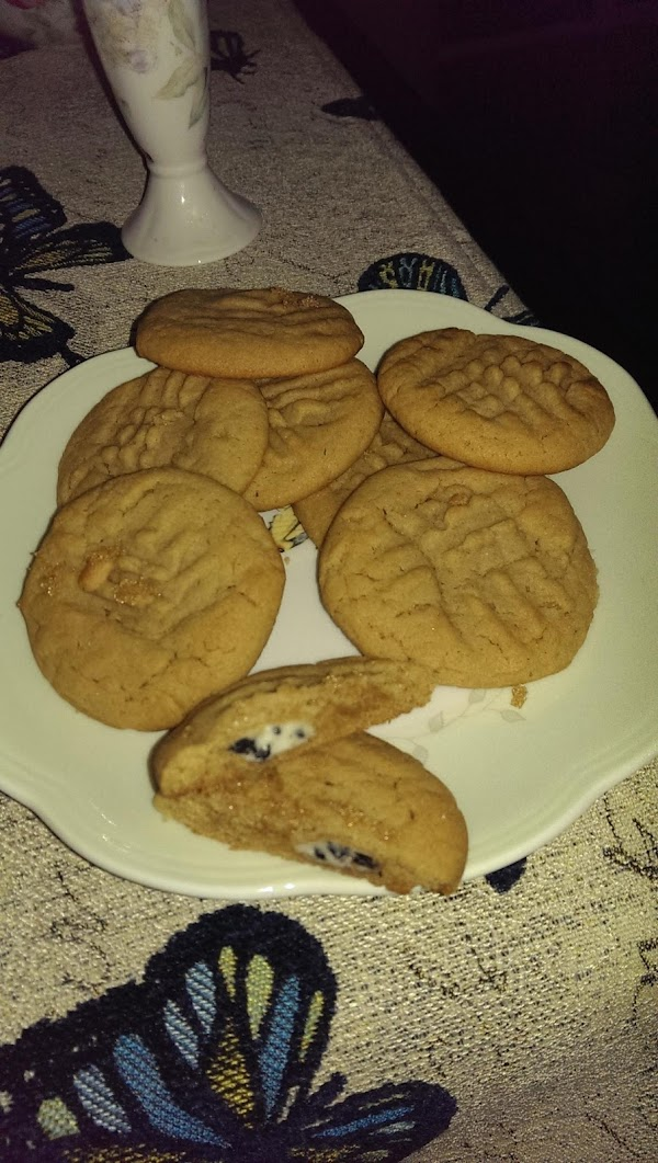 Peanut Butter Cookies Stuffed With Hershey Drops Recipe