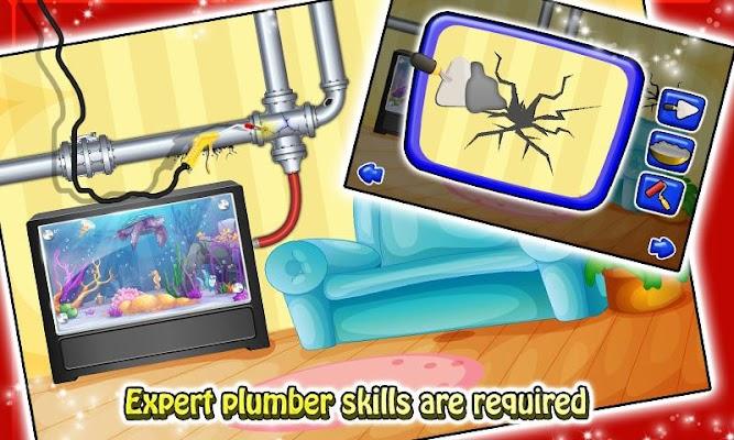 Kids House Plumber Repairing - screenshot