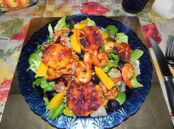 Blackened Shrimp Salad With Roasted Oranges