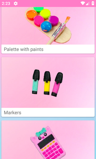 How to make miniature school supplies Apk 1