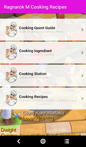 Ragnarok M Eternal Love Cooking Guide 1.0 screenshots 1