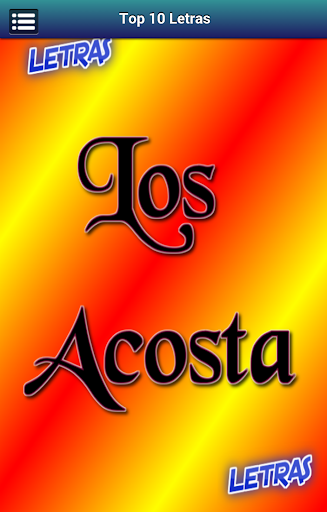 Letras Los Acosta