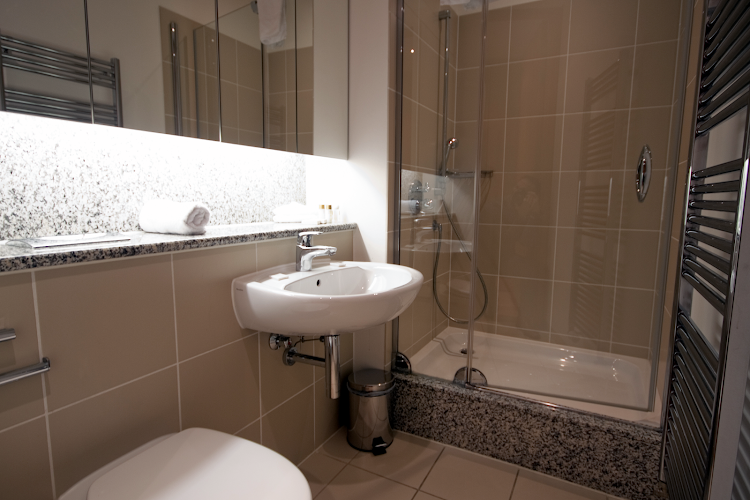 Bathroom at IFSC Apartments - Key Collections