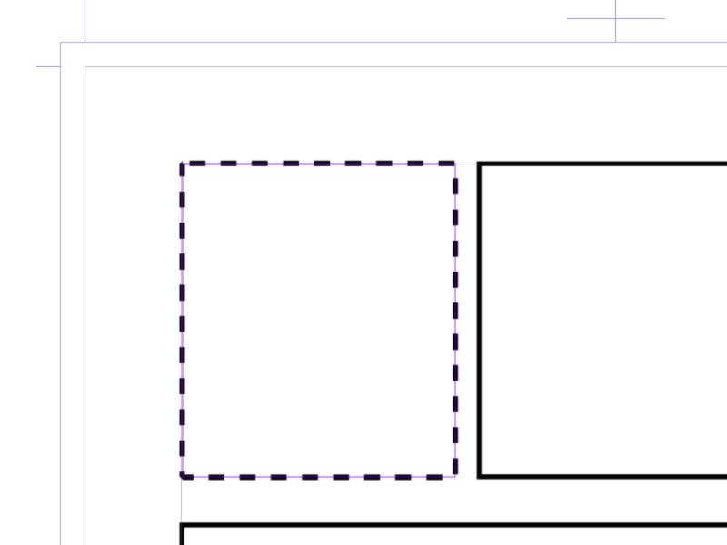 クリスタ:長方形ツール(破線)