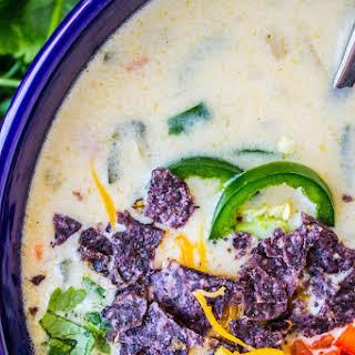 Easy Queso Dip Potato Soup.