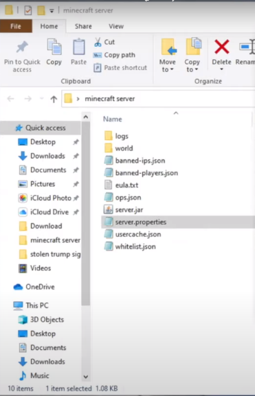 Adjusting server's setting