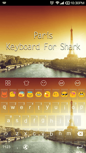 Paris Sunset -Emoji Keyboard