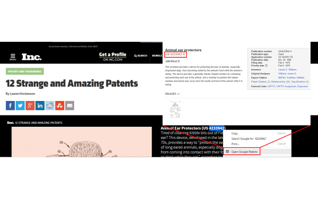 Open Google Patents