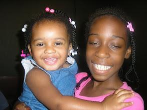 Photo: Kaleya & cousin Lulu