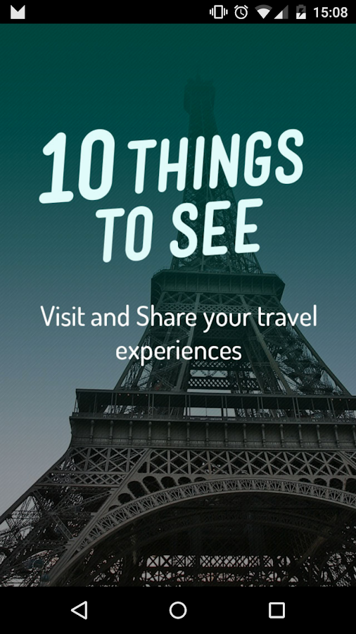 10 Things To See – Capture d'écran