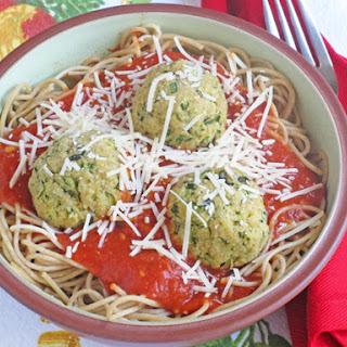 """Zucchini """"Meatballs"""" and Spaghetti"""