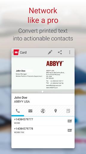 Business Card Reader Pro - Business Card Scanner  screenshots 4